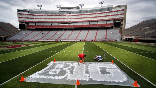 Game preparation scenes like this will soon be happening at stadiums across the Big Ten Conference, which has reversed its decision to skip the fall season. The Big Ten will begin playing in October.