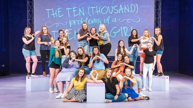 """The full ensemble for Amarillo Little Theatre Academy's upcoming production of """"The Ten (Thousand) Problems of a Teenage Girl"""""""