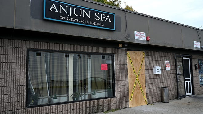 Three people were arrested Thursday at the Anjun Spa on Main Street in Hudson.