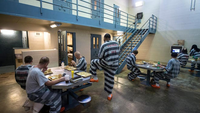 Peoria County Jail inmates are shown at the jail in a 2013 file photo.