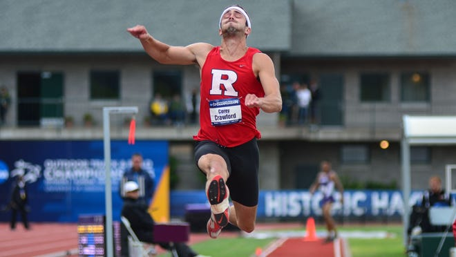 Rutgers redshirt junior Corey Crawford earned his second First Team All-America honor of the year after taking seventh in the long jump Thursday at the NCAA Outdoor Track & Field Championships in Eugene, Ore.