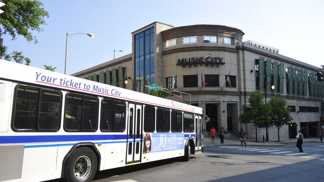 A Metro police officer sustained injuries Tuesday while attempting to break up a fight outside Nashville's downtown bus station.