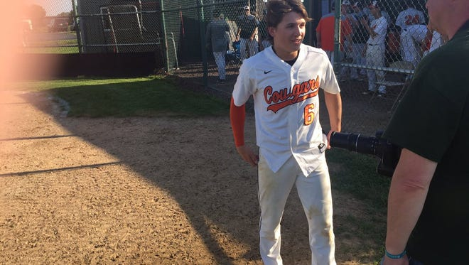 Kasey Shughart was the man of the hour on Monday afternoon when his walk-off RBI single in the bottom of the seventh lifted Palmyra to a 3-2 win over Waynesboro in the opening round of the District 3 Class 5A playoffs.