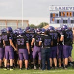 Lakeview before the start of the game against Portage Northern.