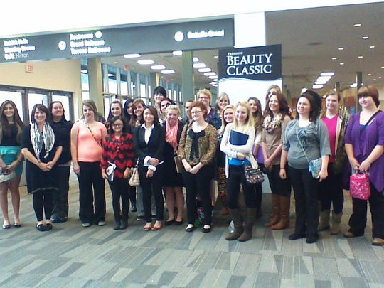 Junior and senior members of a Coshocton Career Center cosmetology class attend a cosmetology conference in Columbus.