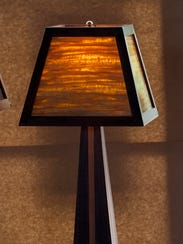 Lamps created by Taylor Melzer are displayed at the