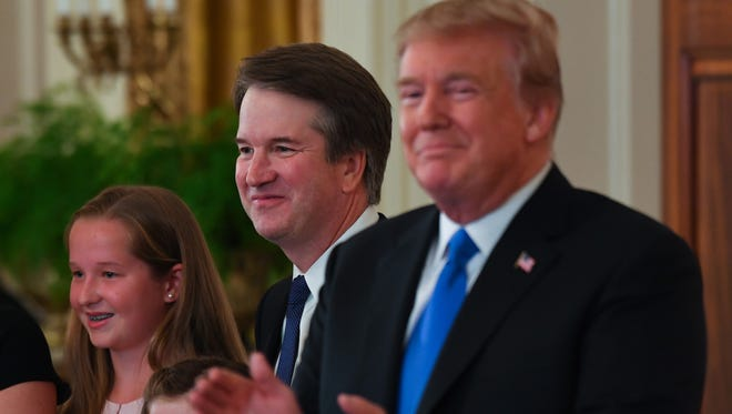 7/9/18 9:06:09 PM -- Washington, DC, U.S.A  -- President Trump nominated Brett Kavanaugh to replace Justice Anthony Kennedy on the Supreme Court during a prime-time address from the White House.--    Photo by Jack Gruber, USA TODAY Staff