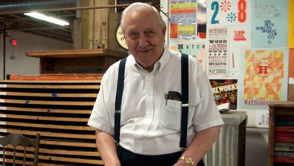 Hamilton Wood Type & Printing Museum founder Jim Van Lanen Sr. at the museum in Two Rivers.