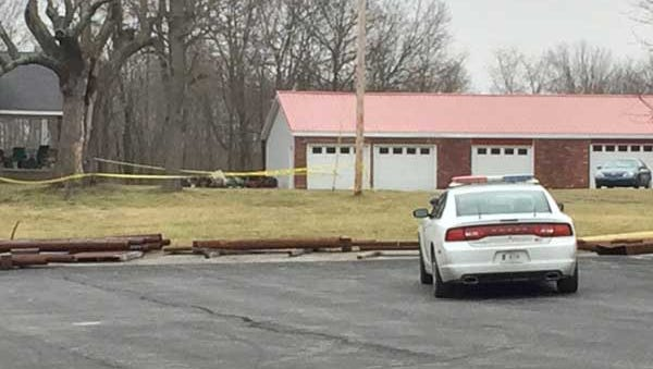 Scene of an officer-involved shooting in Brookville Indiana.