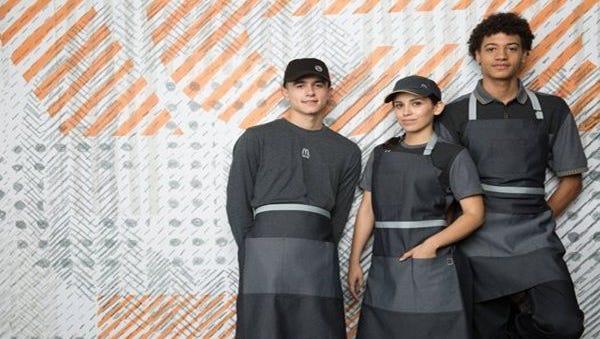 The new McDonald's uniform draws criticism on social media.