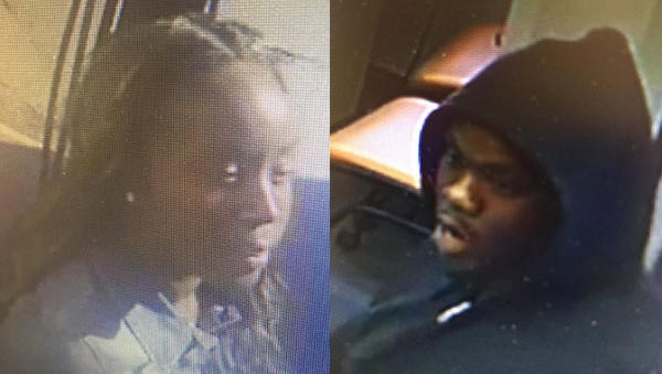 A man and a woman are accused of robbing North Side Bank and Trust in Mount Adams on Saturday.