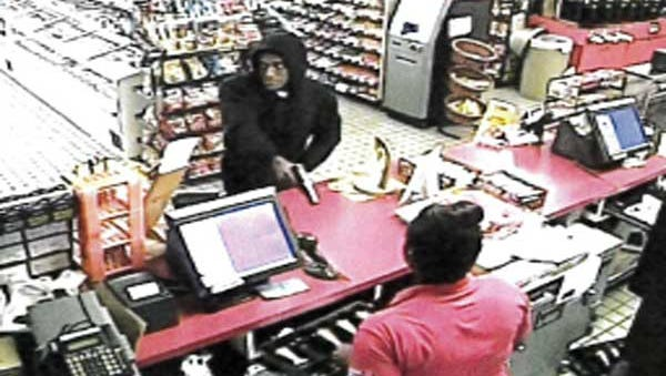 The suspect in this surveillance image held up the UDF in Mt Healthy early Thursday, police said.