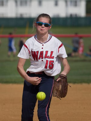 Wall pitcher Courtney Mahoney during Wall Softball vs Jackson Liberty in NJSIAA State Tournament game in Jackson, NJ on May 25, 2016.