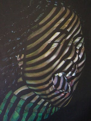 Jordan Heller recently won a national award for this painting.