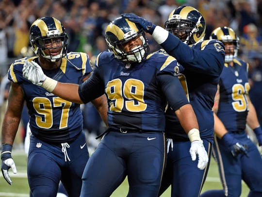 St. Louis Rams defensive tackle Aaron Donald (99) will create matchup problems for the Cincinnati Bengals.