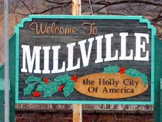 WELCOME TO MILLVILLE SIGN FOR CAROUSEL