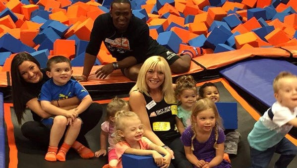 Sky Zone Trampoline park offers several party packages and is nearly full every weekend.