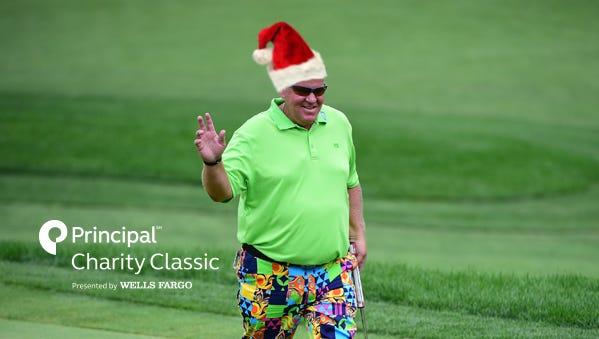Santa on the golf course