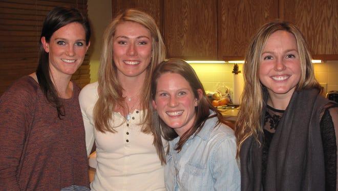 Alex Ryan, Mikaela Shiffrin, Elizabeth Ryan and Lindsay Minges.