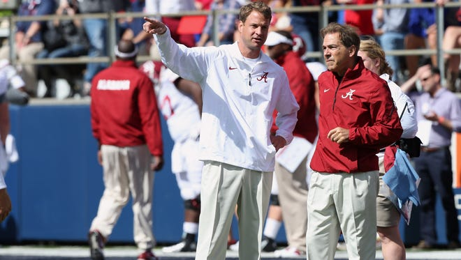 Nick Saban, right, has shown that hiring Lane Kiffin, left, as his offensive coordinator, was a good decision.