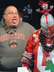 Joe Staysniak (left) is known as the big goofy sidekick on the sports radio show he co-hosts on ESPN The Fan.