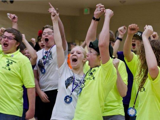 Hurricane High, Randomonium, and Atomic Randomizers react to final match win.