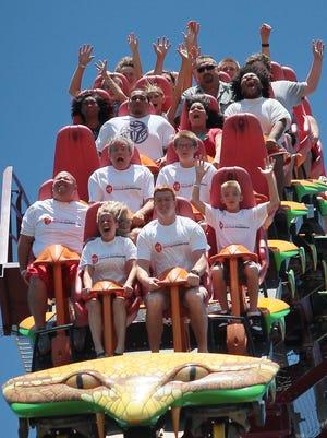 The Diamondback roller coaster at Kings Island, Aug, 6,2012.