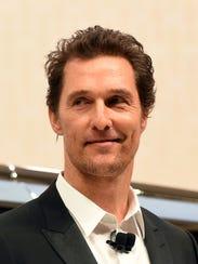 Matthew McConaughey at the New York International Auto