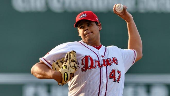 Drive starting pitcher Dedgar Jimenez
