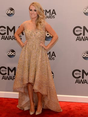 The red carpet at the CMA Awards in 2014.