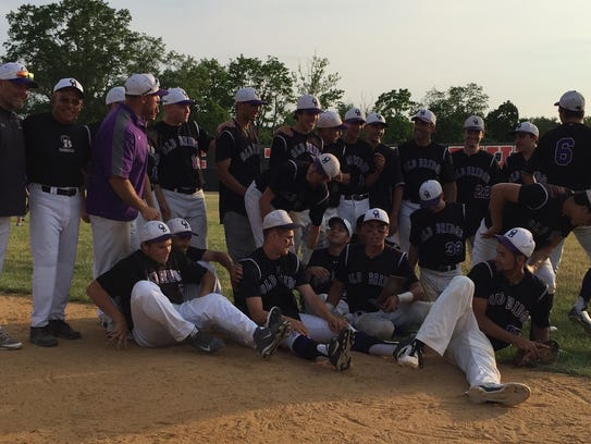 Old Bridge celebrates Central Group IV baseball title