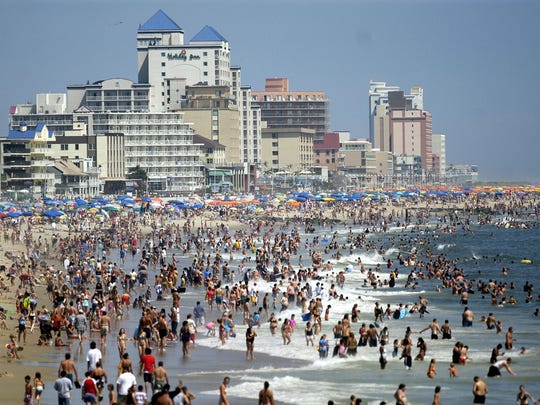 The beach at Ocean City, Md., is a popular destination for Yorkers.