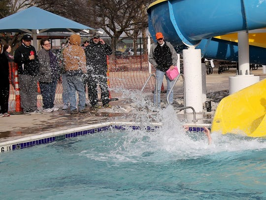 People hit the water at the Special Olympics Texas