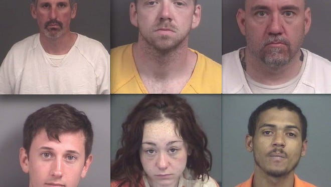 Top row, from left: Charles Johnson, Nicholas Wood, Paul Haley, Kody Vanlangen, Savannah Haley and Nelson Dejesus.