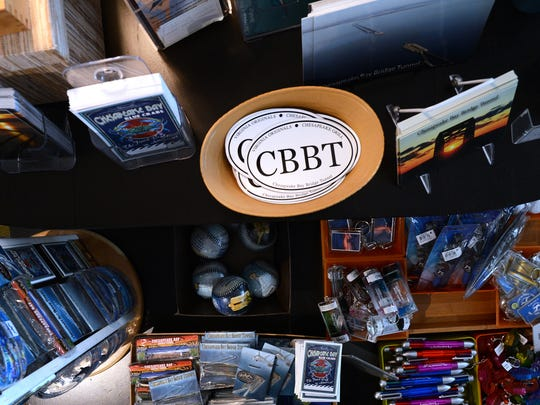 Some of the items for sale at Virginia Originals & Chesapeake Grill, the restaurant and gift shop located on the southern most island of the Chesapeake Bay Bridge-Tunnel facility, include bridge-tunnel themed colectables. The restaurant and an adjacent pier will close in a little more than a year to make way for the construction of a new tunnel tube at the site. The pier will reopen after construction, the restuarant will not.