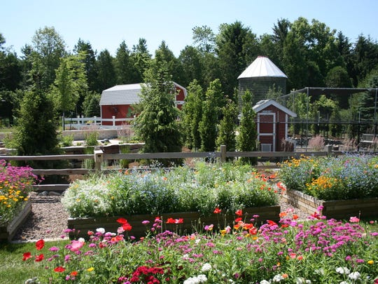 Among the many attractions at Christopher Farm and Gardens is a children's educational farm, where chickens lay eggs that are used each day by farm staff.