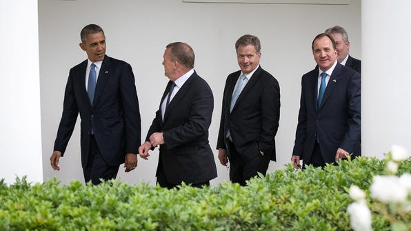 President Obama Hosts Nordic Leaders To White House For Summit