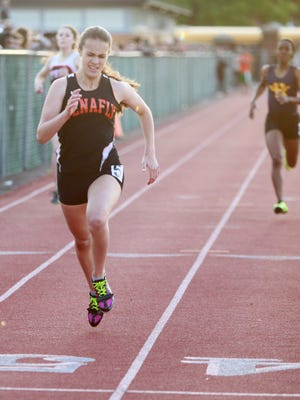 Lexi DelGizzo of Tenafly, who is the defending state outdoor 800-meter champion, was second to North Rockland's Katelyn Touhy on Wednesday, Feb. 1, 2017. But DelGizzo's second-place time of 2:12.3 was easily the fastest time by a New Jersey runner this winter and ranks sixth all time in Bergen County history.