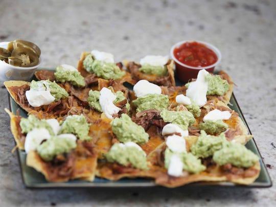 Loaded nachos from Taste of Texas in Iowa.