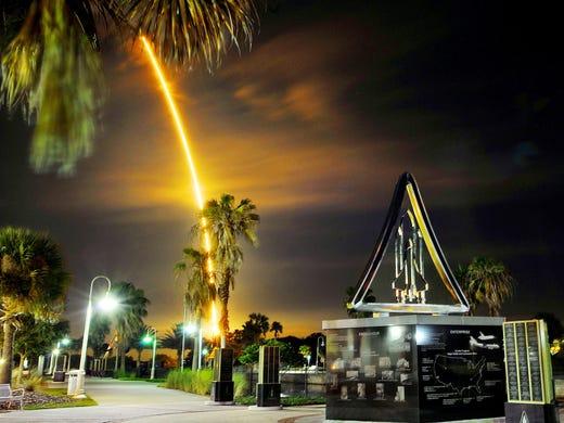 Craig Rubadoux / Florida today A SpaceX Falcon 9 rocket