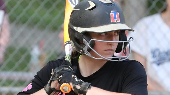 Croton-Harmon's Meghan Giordano at bat during a game