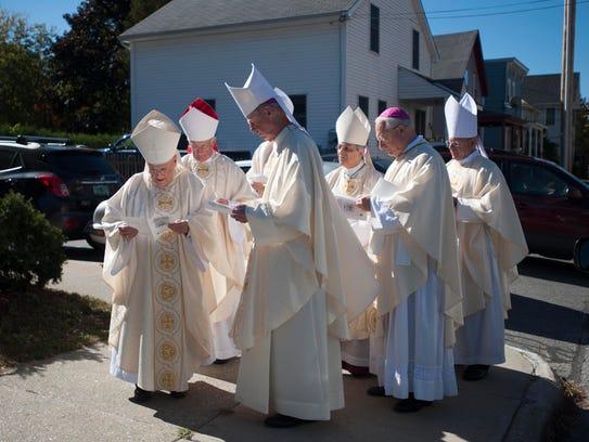 Bishops gather before funeral services for Bishop Emeritus
