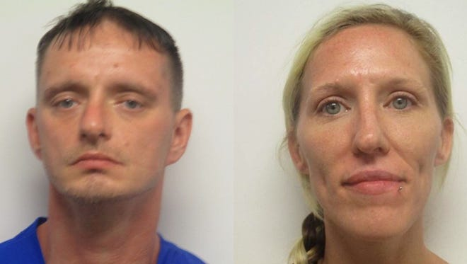 Daniel Baker, 38, and his wife Mollie Baker, 36, were arrested by TBI Friday morning in connection with shooting death of Gregory Jonathan Sanders.