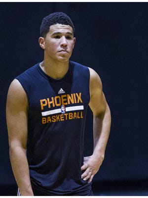 Suns guard Devin Booker at Talking Stick Resort Arena in Phoenix on July 8, 2016.