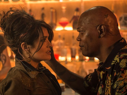 Salma Hayek and Samuel L. Jackson play a criminal couple