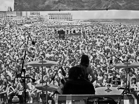 The view from the stage in Asbury Park on Friday, May 27, 1988.