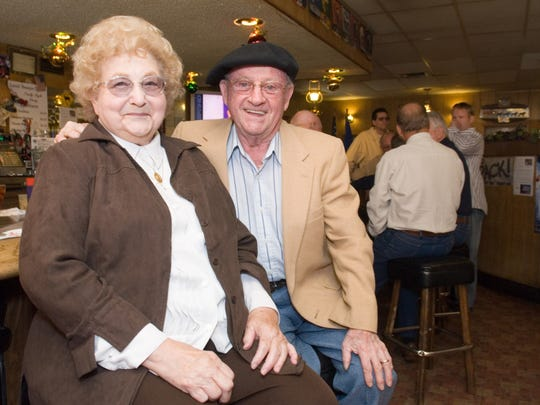 In this RGJ File image, Louis and Lorraine Erreguible take a moment in the bar of Louis' Basque corner, the iconic Reno restaurant they opened in 1967.