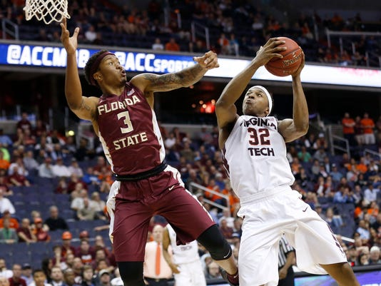 NCAA Basketball: ACC conference tournament-Florida State vs Virginia Tech