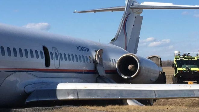 A plane carrying the Michigan men's basketball team slid off the runway in 2017 at Willow Run Airport.