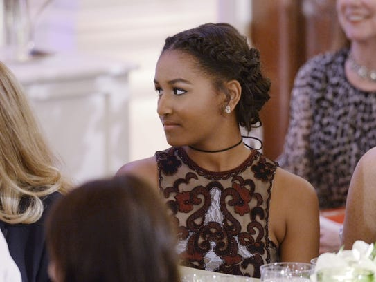 Sasha Obama attends state dinner for Canada at the